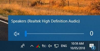 Sửa máy tính mất âm thanh, khi volume đưa về mức 0
