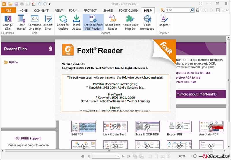 Phần mềm đọc file PDF Foxit Reader miễn phí