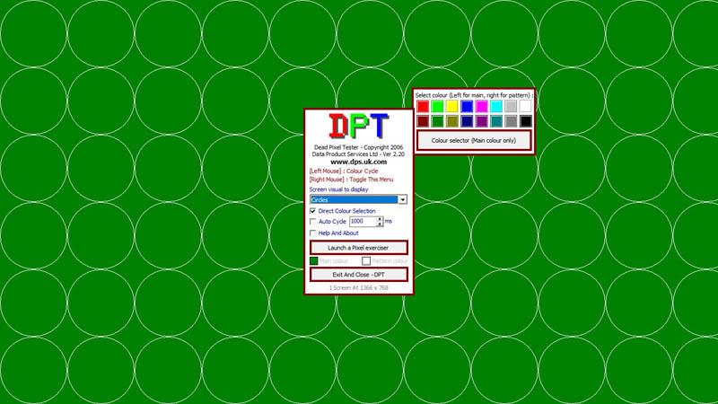 Phát hiện điểm chết màn hình bằng Dead Pixel Tester