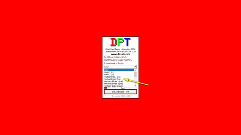 Phần mềm test màn hình máy tính Dead Pixel Tester, kiểm tra điểm chết màn hình máy tính Laptop, PC, điện thoại