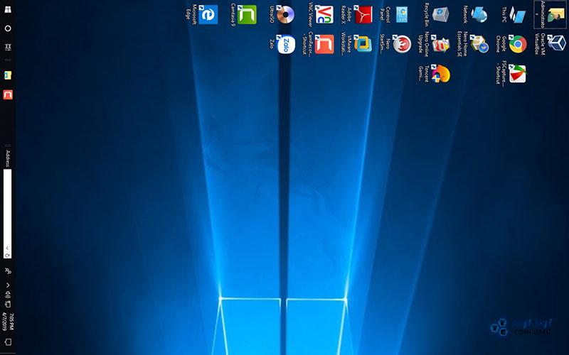 Lỗi màn hình máy tính bị xoay ngang sang trái 90 độ