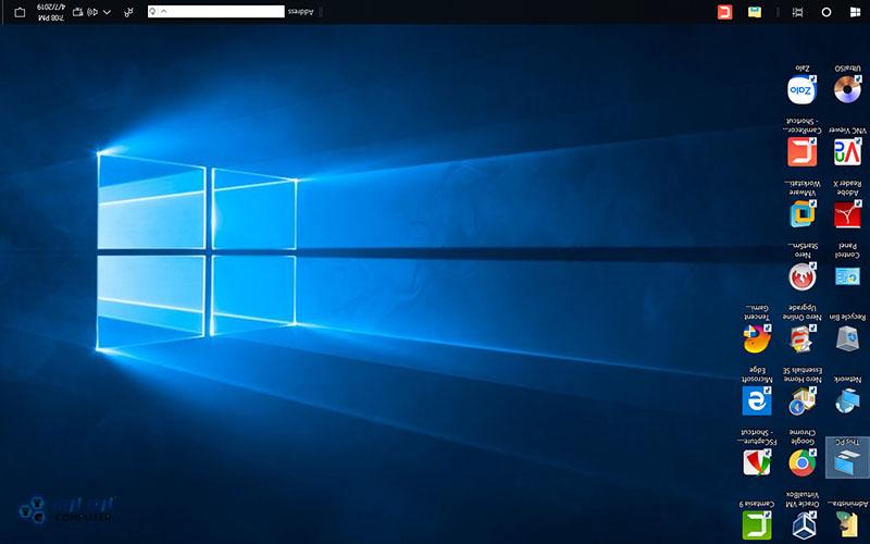 Màn hình máy tính bị xoay ngược lên trên
