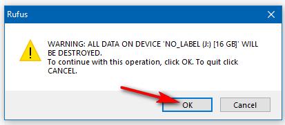 Cảnh báo xóa dữ liệu trong USB